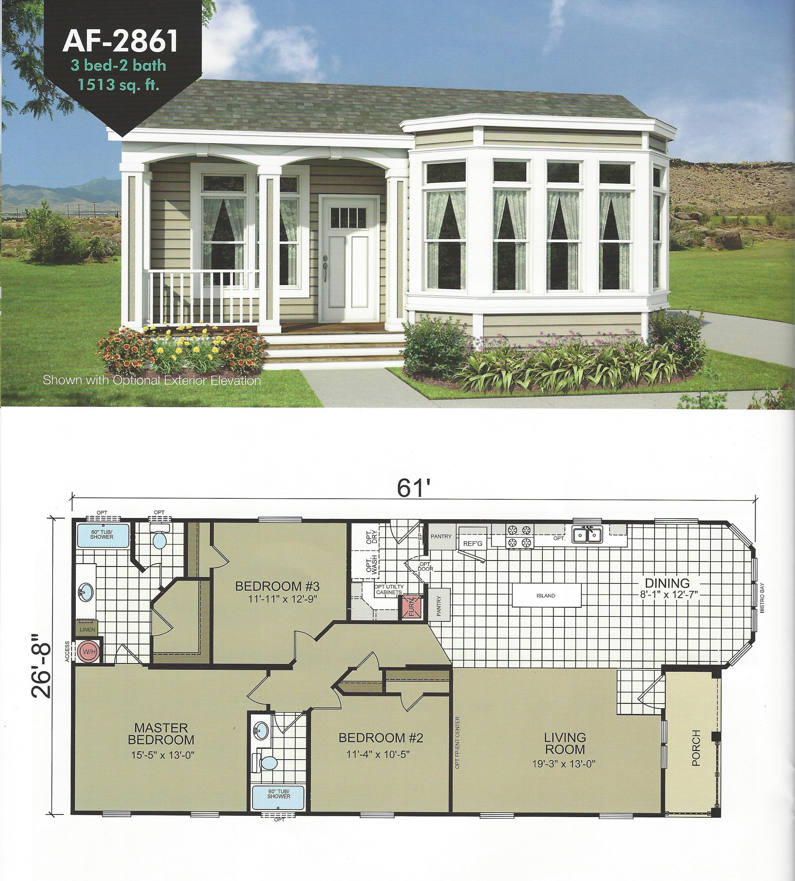 Manufactured Home Floor Plans With Porches
