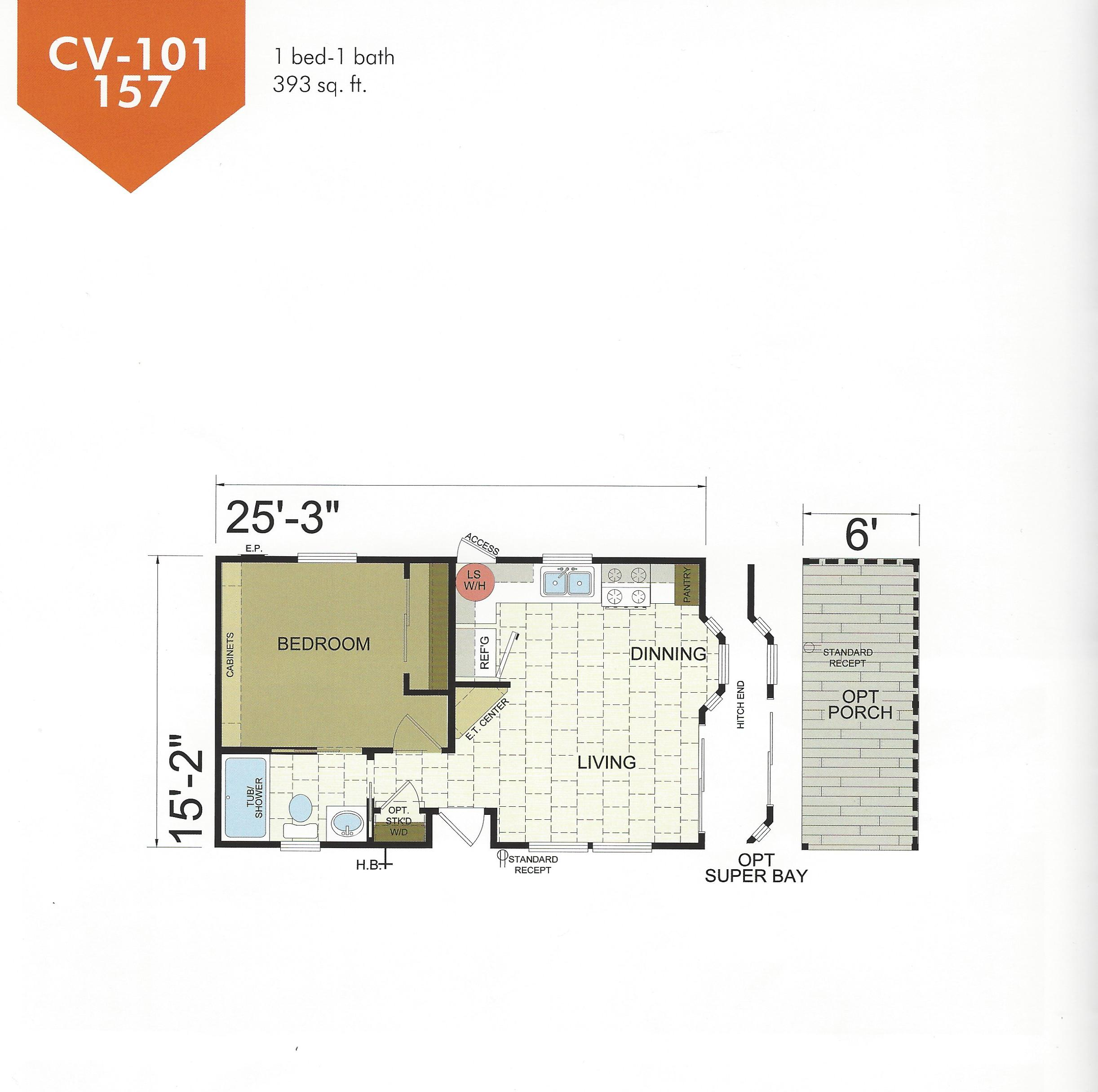 manufactured and modular home  park model floor plans