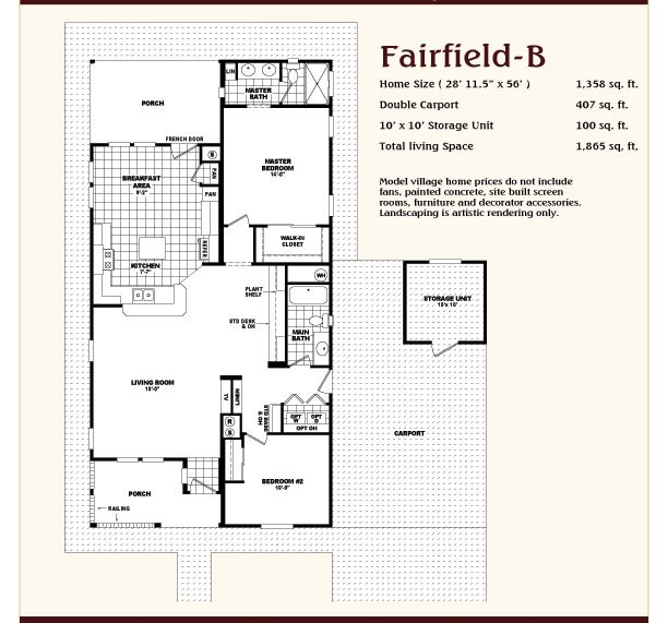Fairbrook homes contact us - Dream home floor plan model ...